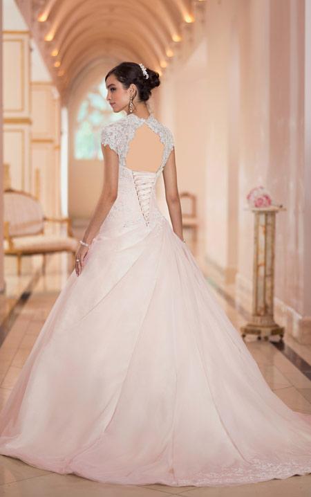 ویسگون لباس عروس ساده, ویسگون مدل لباس عروس نباتی