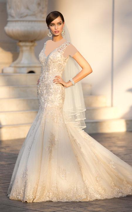 ویسگون مدل لباس عروس نباتی, ویسگون مدل پیراهن عروس دکلته