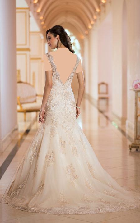 ویسگون لباس عروس های گیپوری,ویسگون لباس عروس آستین کوتاه