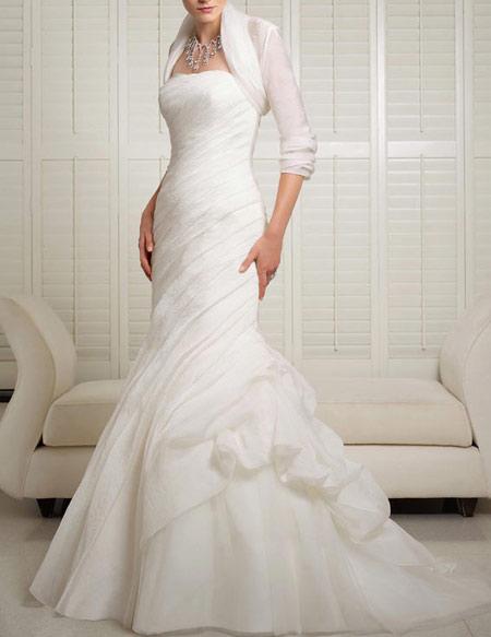مدل لباس عروس,لباس عروس آستین دار