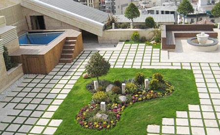 طراحی پشت بام,دکوراسیون بام های سبز