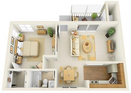 آپارتمان های یک خوابه, طراحی خانه های یک خوابه