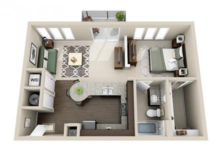 شیک ترین طراحی های آپارتمان های یک خوابه,طراحی آپارتمان