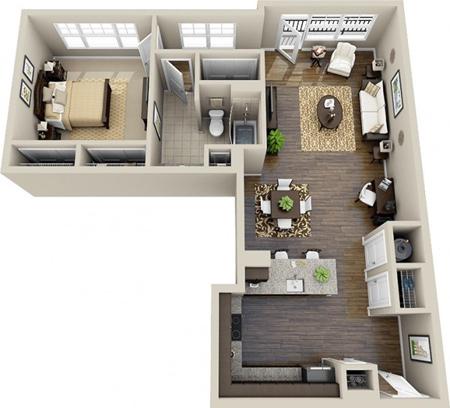 طراحی های مدرن آپارتمان های یک خوابه,نقشه آپارتمان