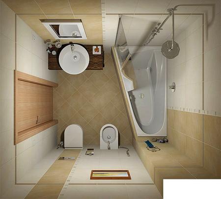 دکوراسیون و دستشویی کوچک,طراحی های کوچک