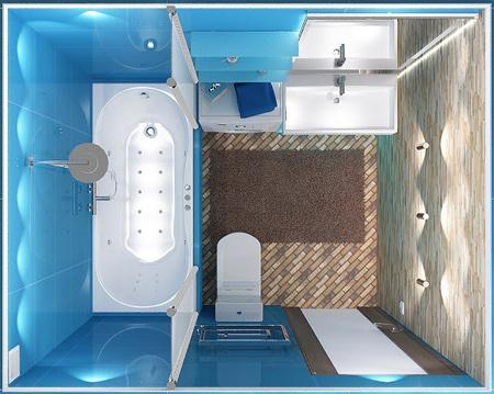 طراحی مدرن های کوچک, دکوراسیون سرویس بهداشتی های کوچک