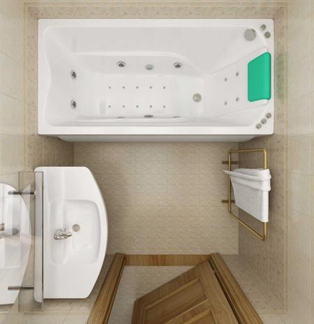 دکوراسیون حمام های کوچک,طراحی سرویس بهداشتی های کوچک