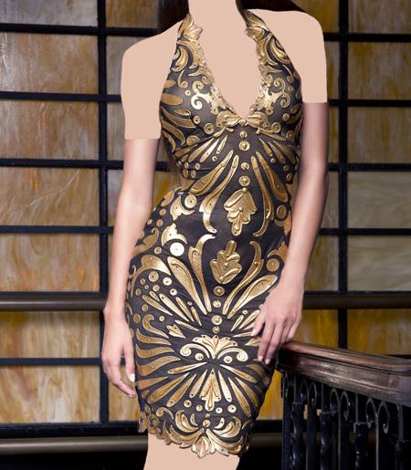لباس مجلسی کوتاه کار شده, لباس مجلسی برند Baccio