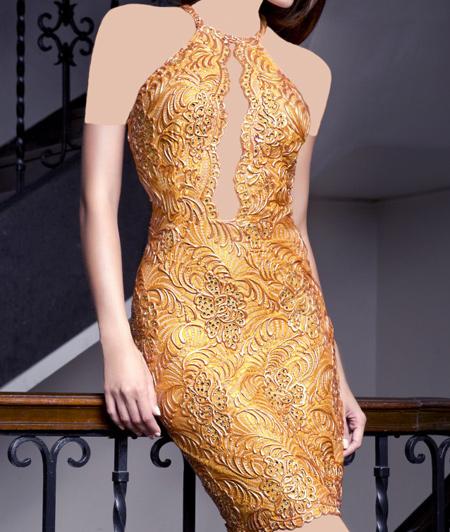 مدل لباس مجلسی کوتاه Baccio