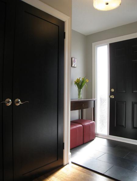 شیک ترین مدل درب های مشکی,ویژگی کار درب های سیاه در خانه