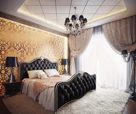 13 مدل از جدیدترین وشیک ترین  اتاق خواب لوکس با دکوراسیون سلطنتی
