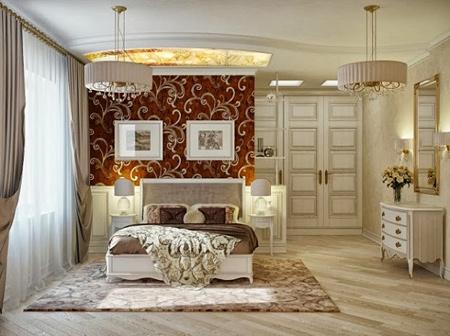 دکوراسیون سلطنتی اتاق خواب,اتاق خواب لوکس
