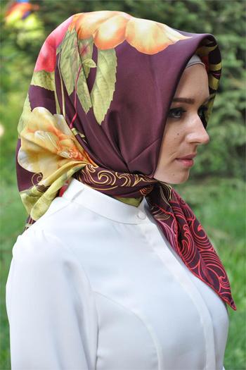 شیک ترین مدل روسری های ترک, مدل روسری ابریشمی برند Armine