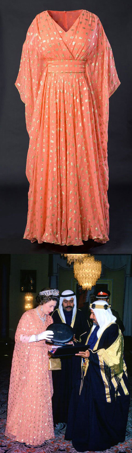 لباس های ملکه الیزایت و پرنسس دایانا در یک نمایشگاه مد