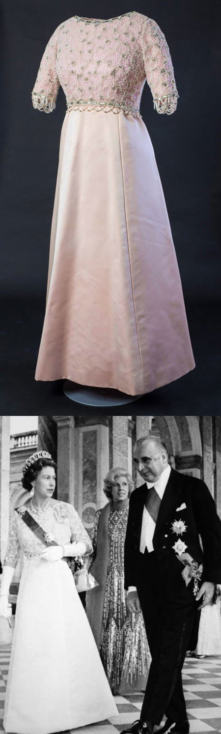 لباس ملکه الیزابت و پرنسس دایانا,لباس های ملکه الیزایت و پرنسس دایانا در یک نمایشگاه مد