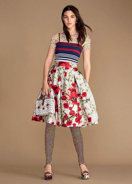مدل لباس زنانه برند دی اند جی D&G برای بهار 2016