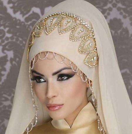 مدل تورهای نگین دار عروس,تورعروس دانتل