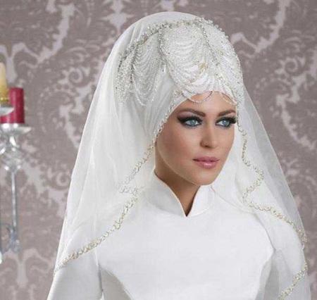 مدل تاج و شیفون عروس,مدل تاج و تور عروس