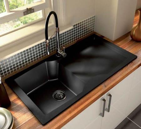مدل های جدید سینک برای آشپزخانه های شیک,سینک مشکی