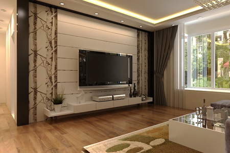 دکوراسیون دیوار پشت تلویزیون, طراحی دیوار پشت تلویزیون