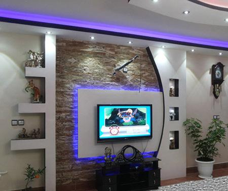 جدیدترین مدل دیوار پشت تلویزیون, تزیین دیوار پشت تلویزیون