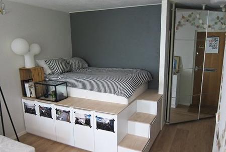 راه حلی برای اتاق خواب های کوچک, استفاده از فضای زیر تخت