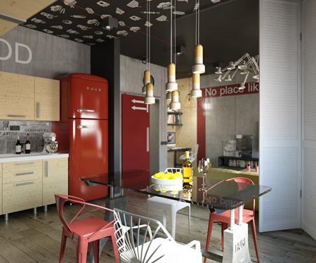 کاربرد رنگ قرمز در دکوراسیون داخلی, طراحی رنگ قرمز در دکوراسیون داخلی