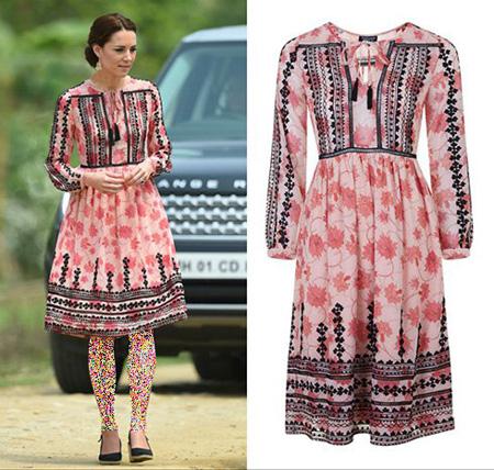 مدل لباس های کیت میدلتون, مدل لباس هندی کیت میدلتون