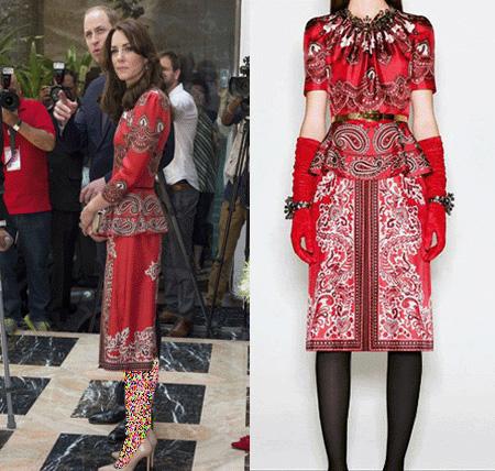 طراحی مدل لباس های کیت میدلتون, نمونه هایی از مدل لباس های کیت میدلتون در هندوستان