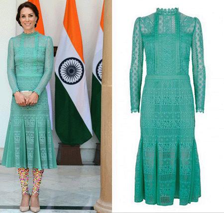 تصاویر کیت میدلتون در هندوستان,لباس هندی کیت میدلتون