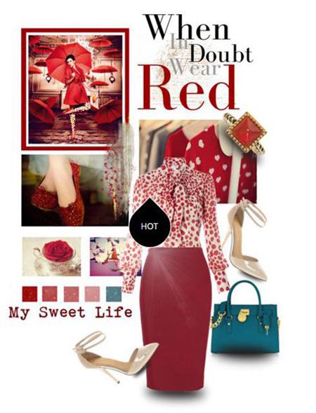 ست کردن پیراهن شب قرمز, ست کردن لباس شب به رنگ قرمز