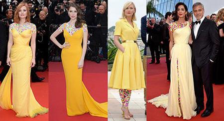 لباس های ستارگان در جشنواره کن,تصاویر بهترین و بدترین لباس های ستارگان در جشنواره کن