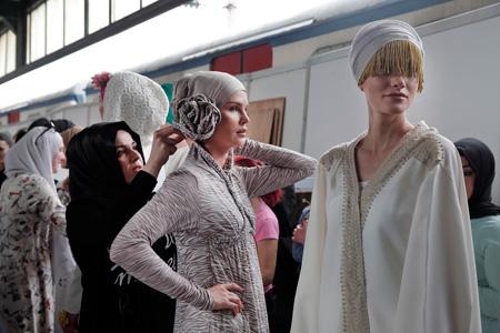 عکس هایی از مدلینگ ها در هفته مد در استانبول,هفته مد بین المللی اسلامی در استانبول