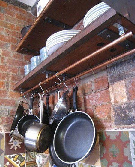 ایده هایی برای قابلمه ها در آشپزخانه های کوچک, نحوه آویزان کردن قابلمه ها در آشپزخانه ها