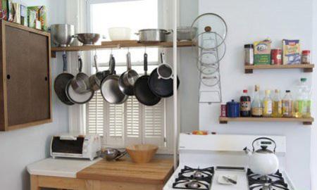 مکان های مناسب برای قابلمه ها در آشپزخانه های کوچک, ساخت مکانی برای قابلمه ها با وسایل دور ریختنی