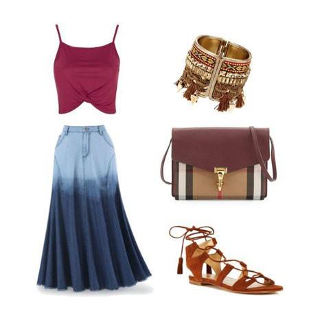ست کردن انواع لباس با انواع دامن های بلند