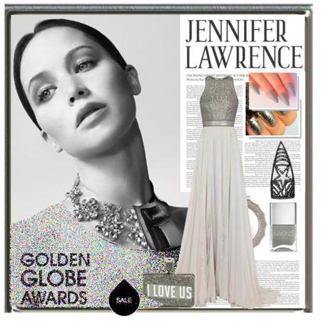ست لباس مجلسی به سبک جنیفر لارنس, ست لباس شب جنیفر لارنس