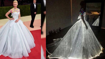 لباس درخشان کلیر دینز در مراسم مت گالا 2016,مدل لباس درخشان کلیر دینز