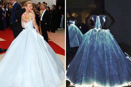 عجیب ترین لباس در مراسم مت گالا 2016, لباس عجیب و درخشان کلیر دینز در مراسم مت گالا 2016