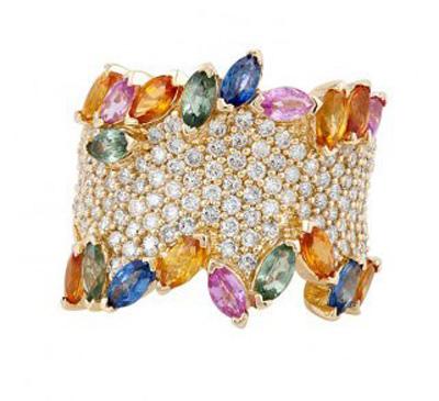 انگشترهای جواهر effy jewelry, انگشترهای جواهر رنگارنگ