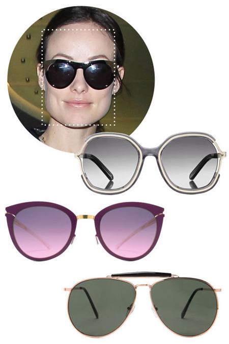 تصاویر مدل عینک های آفتابی مناسب برای صورت های مربع شکل
