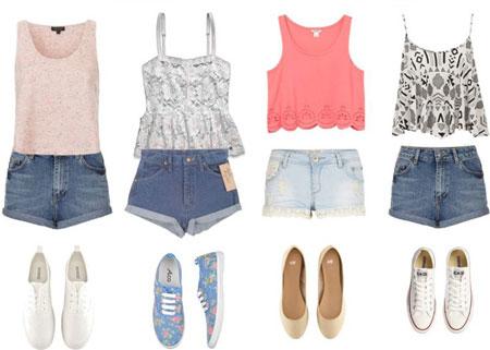 ست کردن لباس زنانه با شورت لی, شیک ترین ست های تابستانی