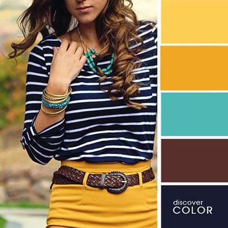 ست تابستانی با رنگ های تند,ست کردن لباس با رنگ های تند