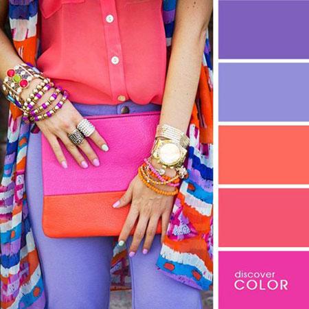 ست های لباس تابستانی, ست تابستانی با رنگ های تند