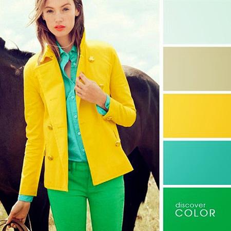 ست کردن لباس با رنگ های تند در تابستان