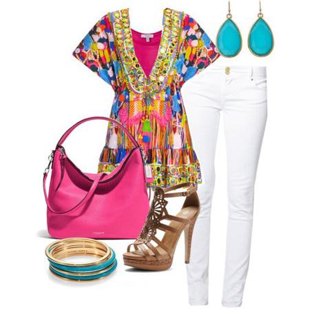 نحوه ست کردن لباس با شلوار جین سفید, اصول و نحوه پوشش در تابستان