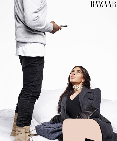 جدیدترین تصاویر کیم کارداشیان و همسرش, عکس ستارگان روی مجله مد