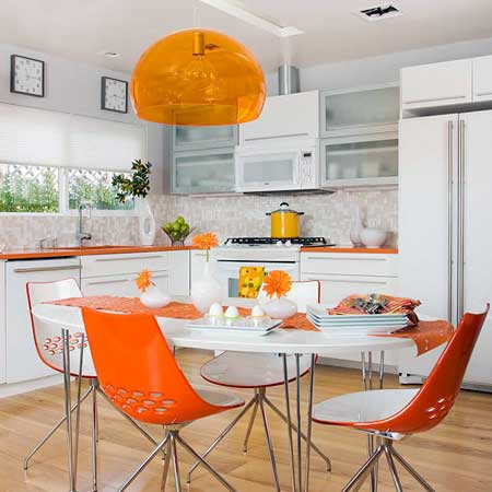 ترکیب رنگ های شاد برای چیدمان آشپزخانه,طراحی و چیدمان آشپزخانه