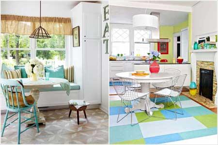 اصول چیدمان آشپزخانه های رنگی،دکوراسیون و چیدمان رنگی آشپزخانه
