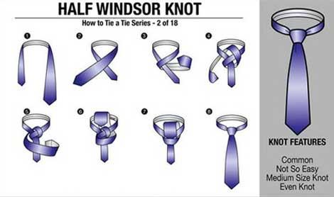 چگونه کراوات را ببندیم؟! (3 روش بستن کراوات)